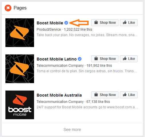boost mobile facebook page icon image